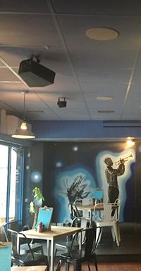 Cafe bar audio visual system