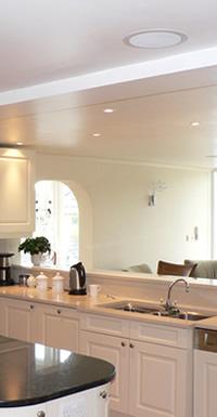 Kitchen ceiling speakers