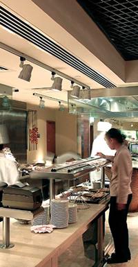 Restaurant loudspeakers