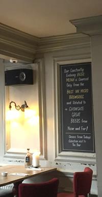 Speaker in pub