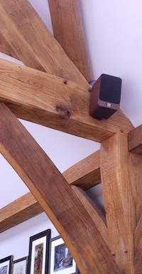 Speaker on beam